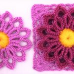 Crochet Lilac Flower Square Video Tutorial
