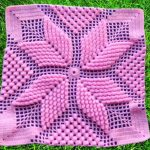 Popcorn Stitch Square For Blankets And Pillows