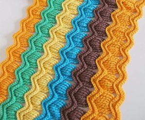 How To Crochet Vintage Fan Ripple Stitch