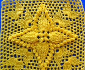Crochet Square (Popcorn Stitch)