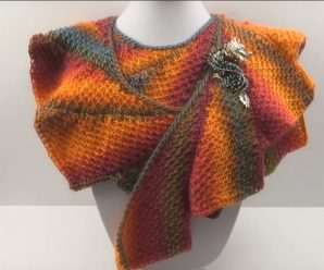 Crochet Dragon Trail Scarf