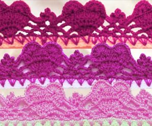 Crochet Heart Border