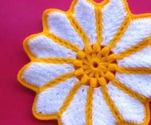 Crochet Flower Potholder