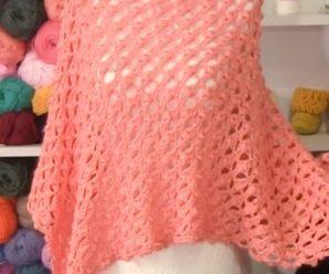 Crochet Heart Shawl Video Tutorial