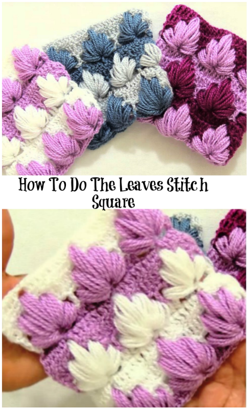 Leaves stitch square