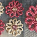 DIY Crochet Flower For Decor