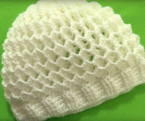 Crochet 3 D Cap