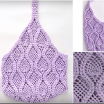 Crochet Pineapple Stitch Bag