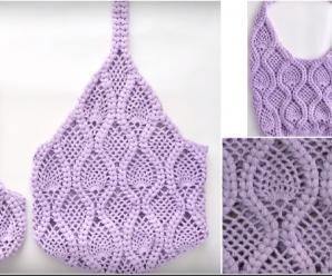 Crochet Pineapple Stitch Bag