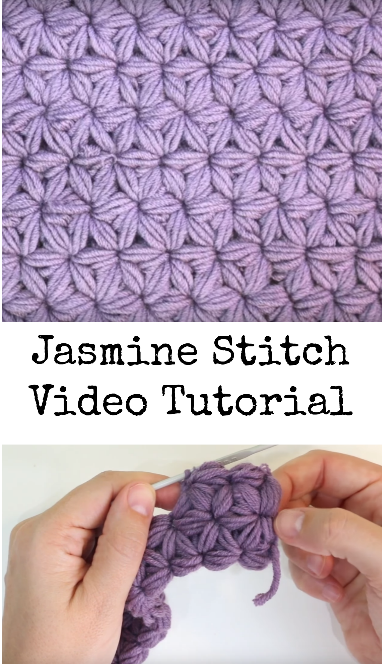 Jasmine Stitch Video Tutorial Crochet Ideas