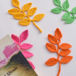 Crochet Leaf Applique