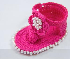 Crochet Cute Baby Sandals
