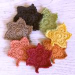 How To Crochet Autumn Leaves Applique