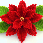 Crochet 3D Christmas Flower