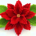 Crochet 3D Christmas Flower