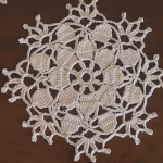 Crochet Snowflake Doily For Christmas