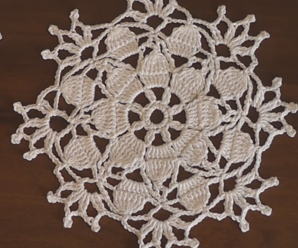 Crochet Snowflake Doily For Christmas