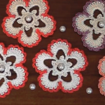 Crochet Flower Applique Tutorial