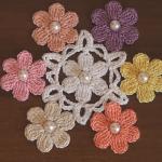 Crochet Flower Applique Motif