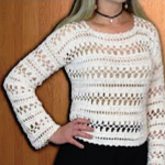 Long Sleeve Crochet Blouse