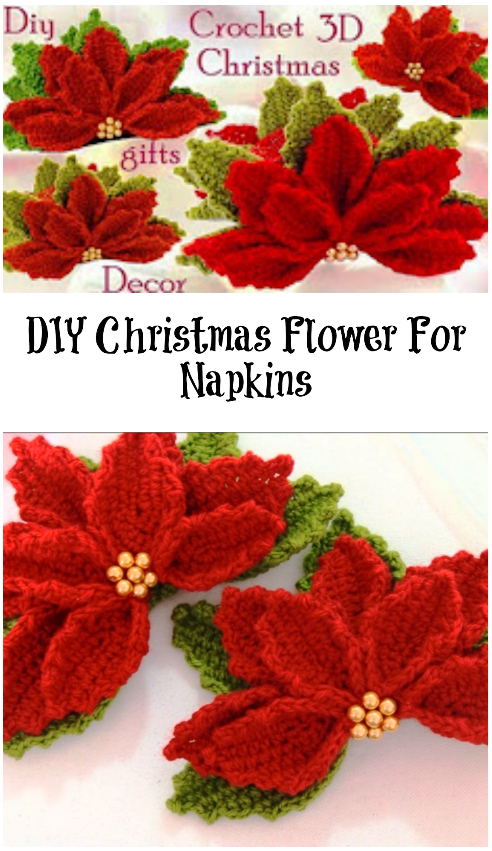 So today we decided to show you how to make Christmas flower in order to decorate your Christmas Table.