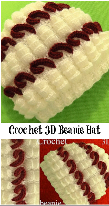 Today we are going to show you how to crochet 3D Hat Beanie 2d634d07ecd