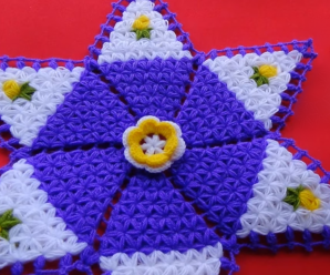 Crochet Star Doily Carpet