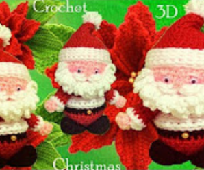 Crochet 3 D Santa Claus
