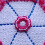 Crochet Round 3D Carpet