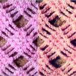 Diamond Checkers Crochet Stitch