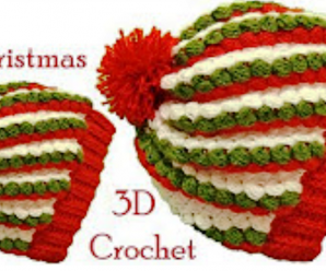 Christmas Colored 3D Hat