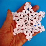 How To Crochet Snowflake