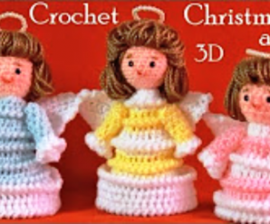 DIY Crochet Christmas Angels
