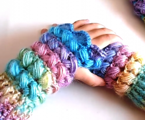 Crochet Finger-less Gloves