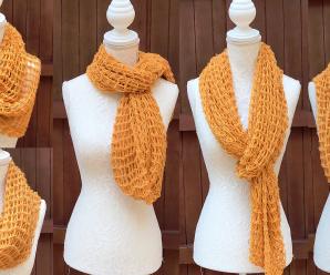 Crochet Solomon's Knot Stitch Scarf