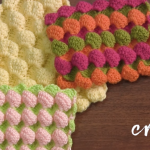 Reversible Crochet Bubble Square