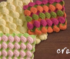 Reversible Crochet Bubble Square