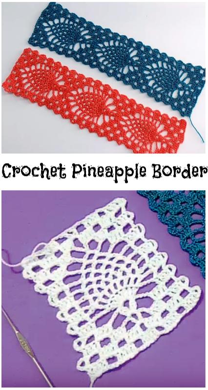 Crochet Pineapple Border Crochet Ideas