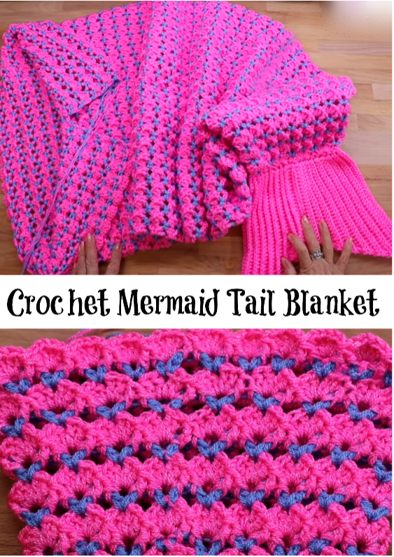 Crochet Mermaid Tail Blanket Crochet Ideas