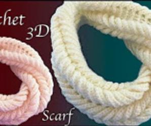 Crochet Trendy 3 D Scarf