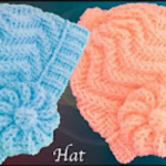 Zigzag Stitch Hat With Flower