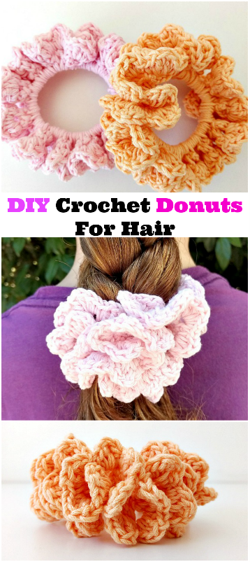 crochet donuts for hair