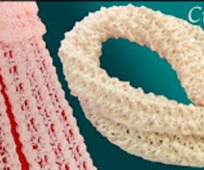 Crochet Attractive 3D Scarf