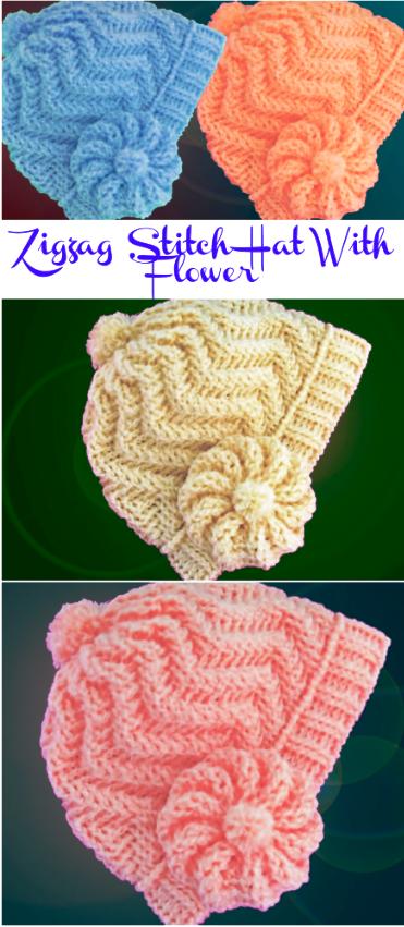 zigzag stitch hat