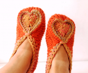 How To Crochet Valentines Day Slippers