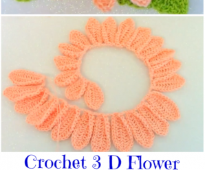 Crochet 3 D Flower Video Tutorial