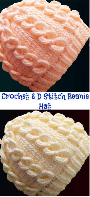 3d stitch beanie