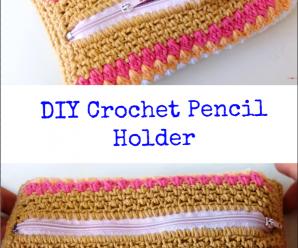 DIY Crochet Pencil Holder