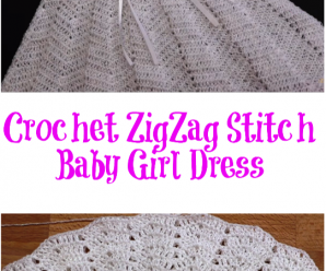 Crochet ZigZag Stitch Baby Girl Dress