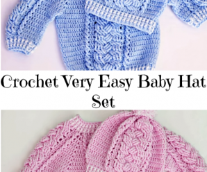 Crochet Very Easy Baby Hat Set
